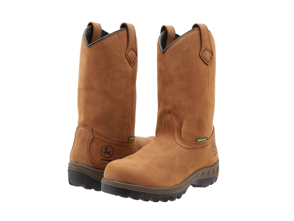 John Deere - WCT Waterproof 11 Pull-On (Brown) Mens Work Pull-on Boots