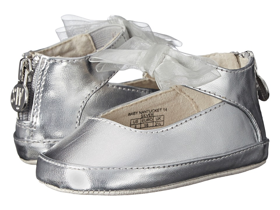 Stuart Weitzman Kids - Baby Nantucket 14 (Infant/Toddler) (Silver) Girls Shoes