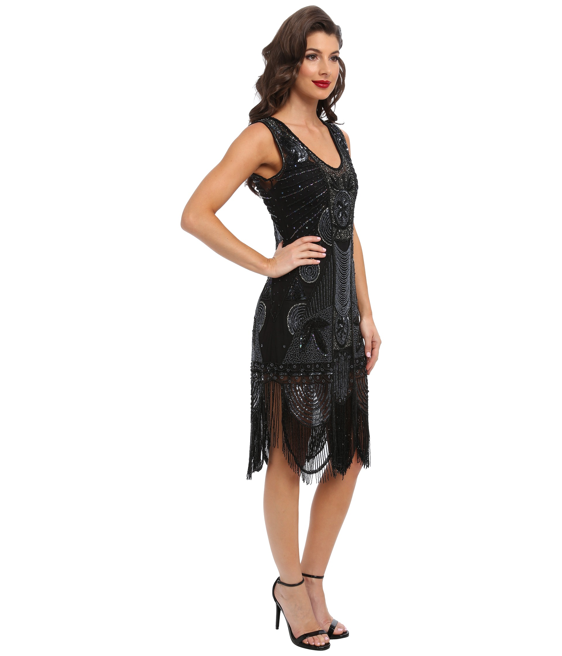 unique vintage the bosley beaded fringed flapper dress at