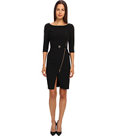 Versace Collection - 3/4 Length Dress w/ Zipper Detail