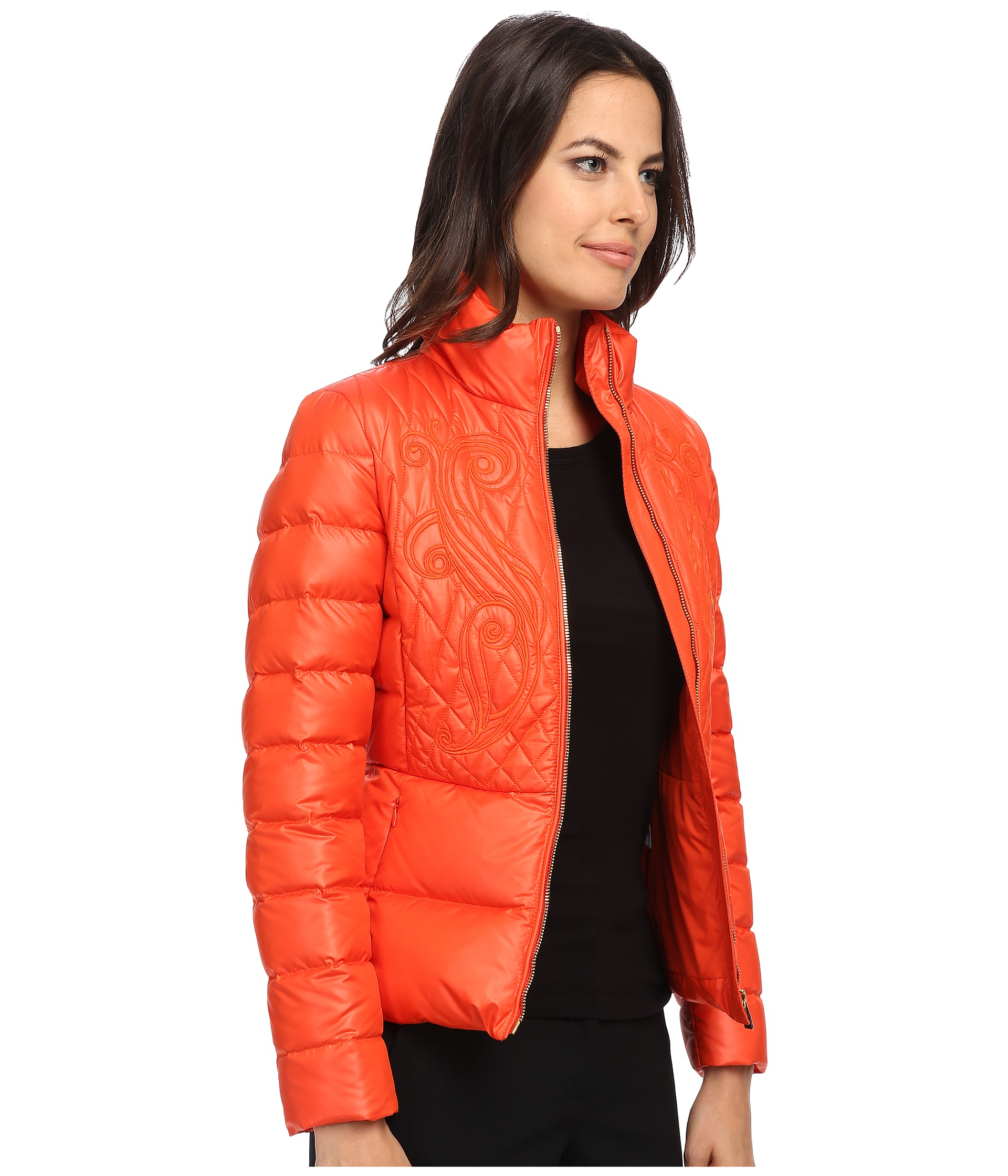 Versace Collection Down Jacket W Embroidered Detail ...