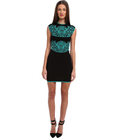 Versace Collection - Knitted Cap Sleever Dress w/ Graphic Design