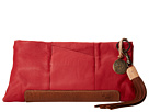 Will Leather Goods Isabel Clutch (Red/Tan)