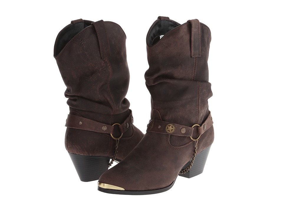 Dingo Olivia (Dark Brown) Western Boots