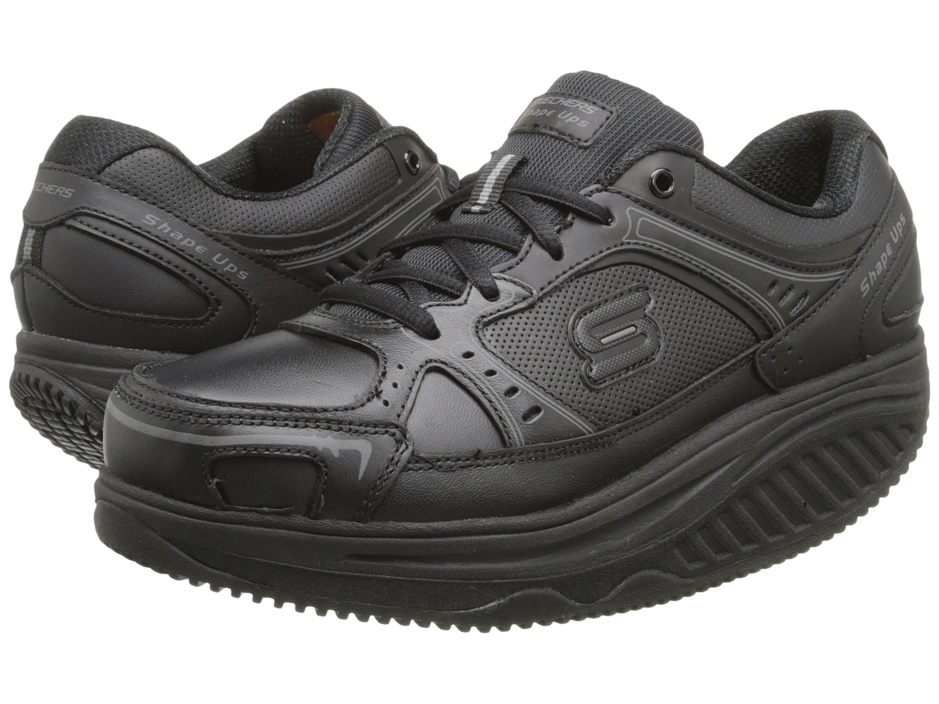 black skechers shape ups