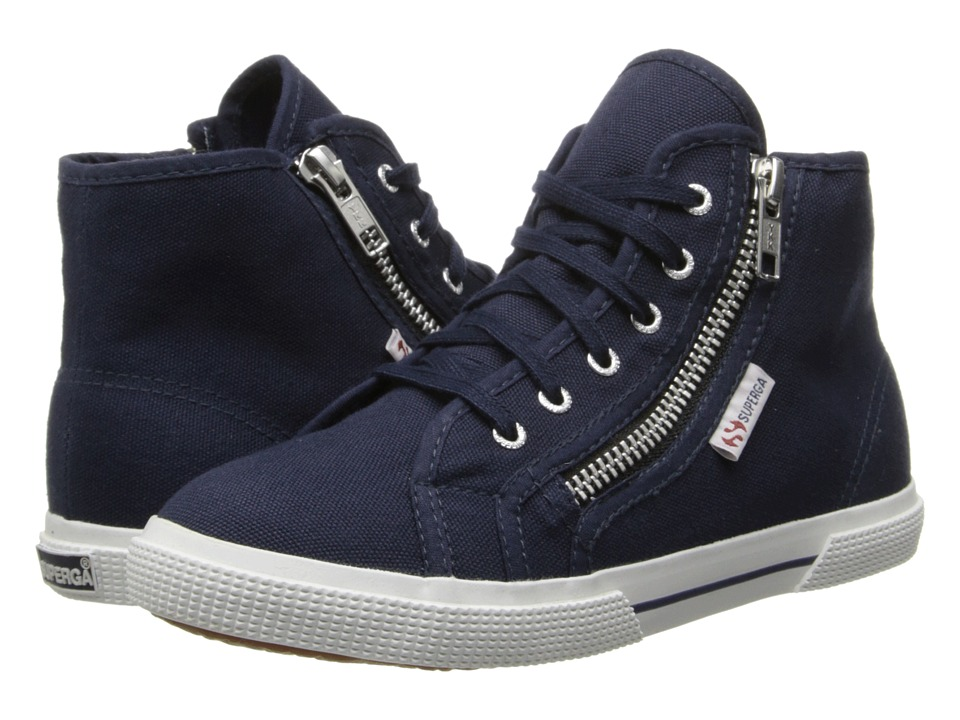 Superga Kids - 2224 COTDJ (Infant/Toddler/Little Kid/Big Kid) (Navy) Kids Shoes