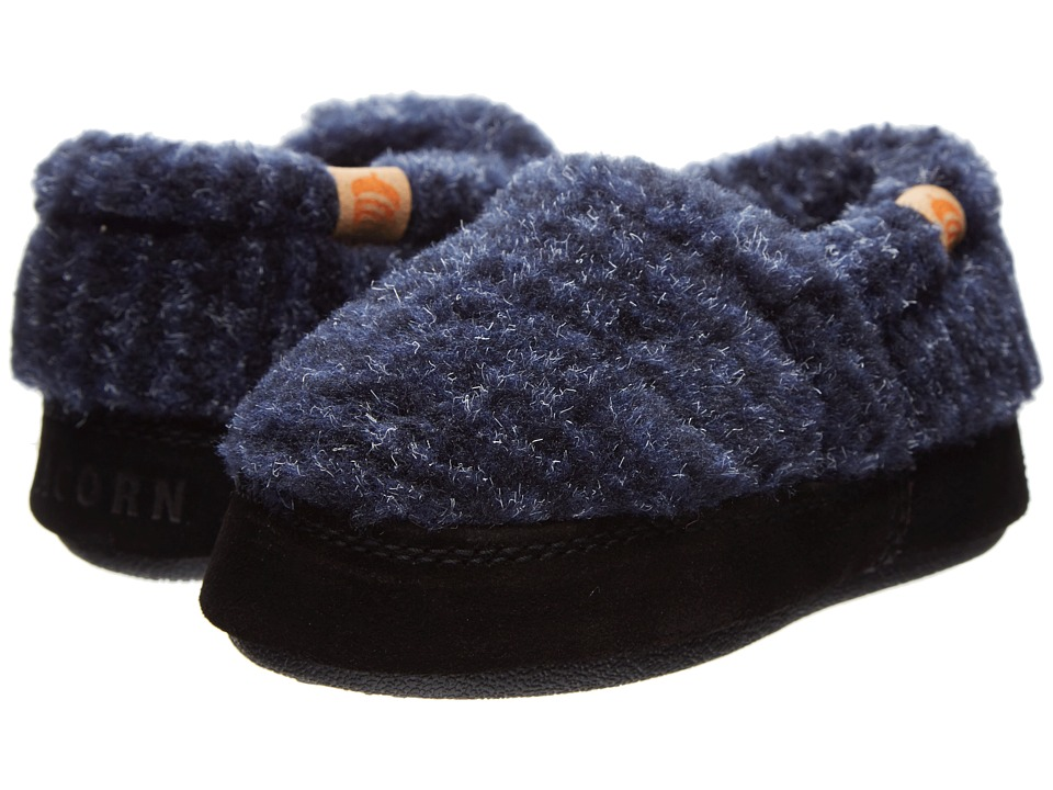 Acorn Kids Acorn Moc (Toddler/Little Kid/Big Kid) (Blue Check) Boy's Shoes