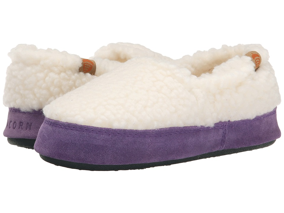 Acorn Kids Acorn Moc Toddler/Little Kid/Big Kid Buff Popcorn/Purple Girls Shoes