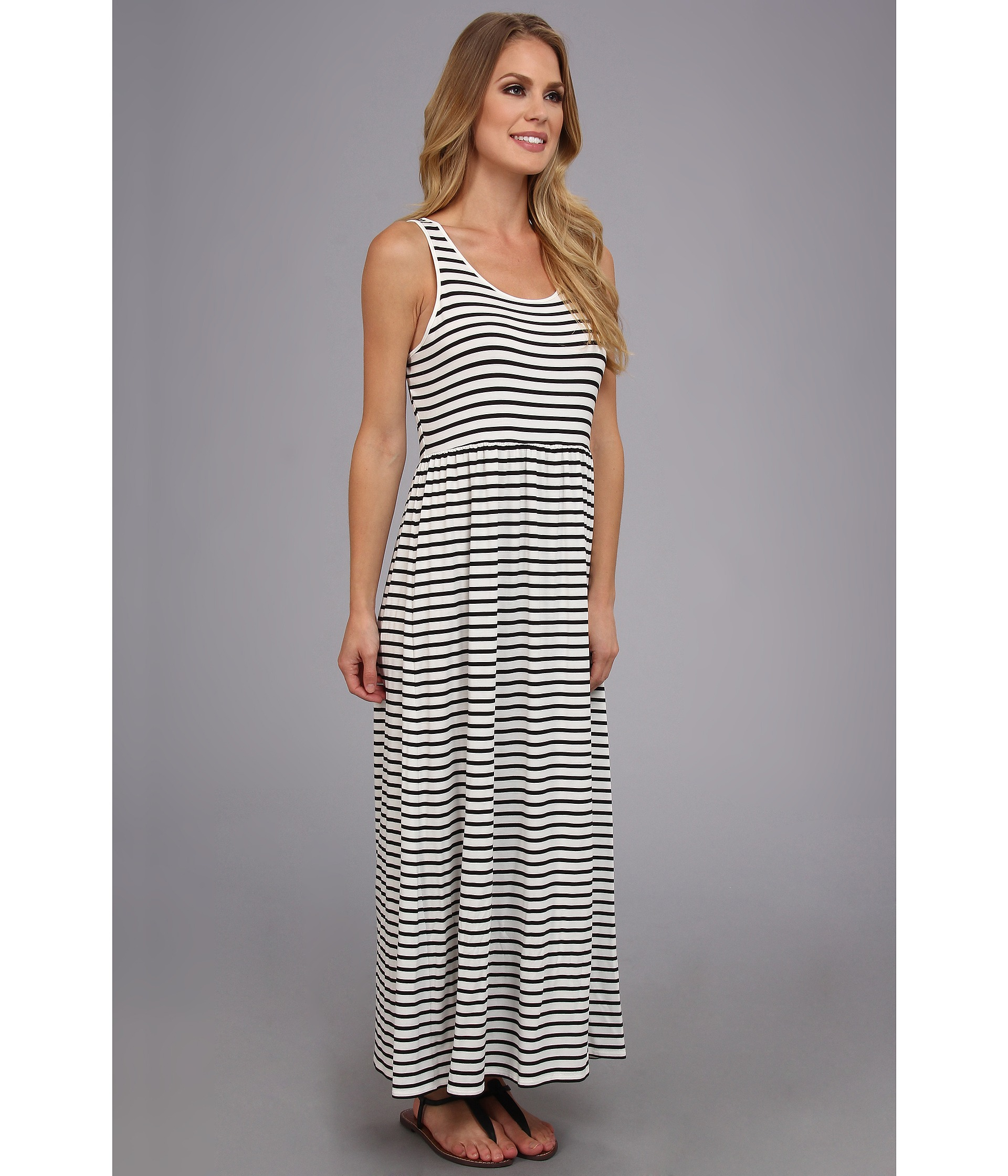 Two By Vince Camuto S L Rising Stripe Maxi Dress Rich Black