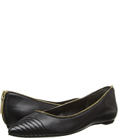 Pierre Balmain - Nappa Leather Ballet Flat With Leather Accent