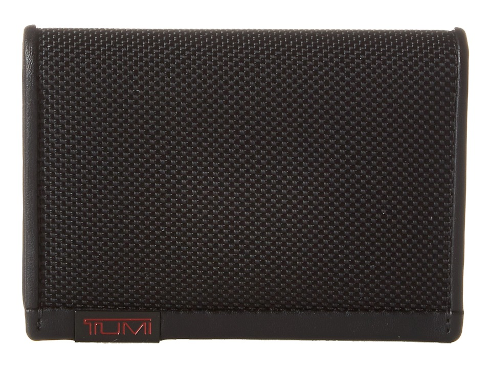 Tumi - Alpha - Gusseted Card Case With ID (Black) Credit card Wallet