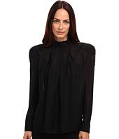 Pierre Balmain - Long Sleeve Sheer Blouse With Shoulder Detail