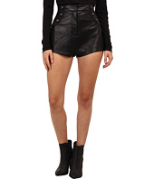Pierre Balmain - High-Waisted Leather Short Shorts