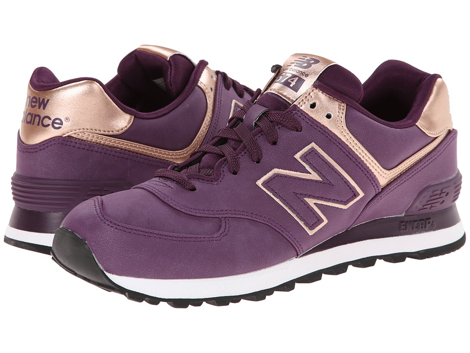Shop New Balance Classics online and buy New Balance Classics WL574 - Precious Metals Purple Womens Lace up casual Shoes shoes online