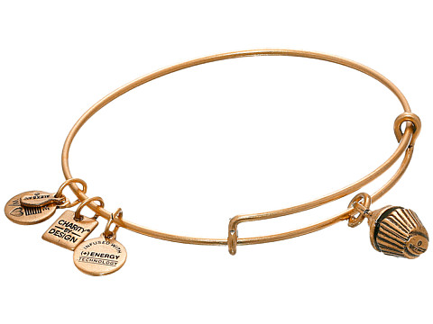 Alex and Ani Cupcake Charm Bangle - Russian Gold Finish