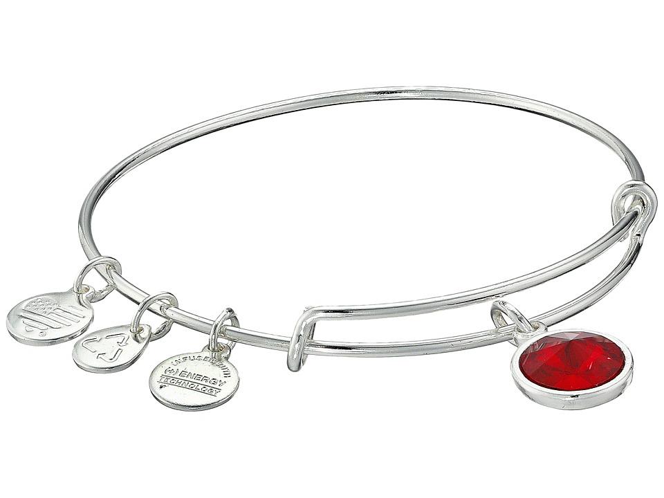 Alex and Ani - January Birthstone Charm Bangle (Rafaelian Silver Finish) Bracelet