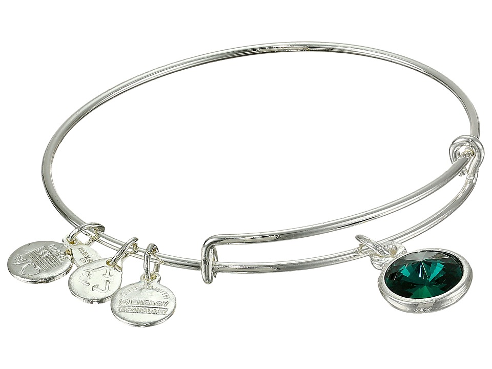 Alex and Ani - May Birthstone Charm Bangle (Shiny Silver Finish) Bracelet