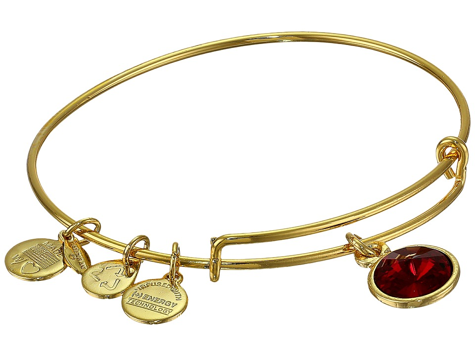 Alex and Ani - January Birthstone Charm Bangle (Rafaelian Gold Finish) Bracelet