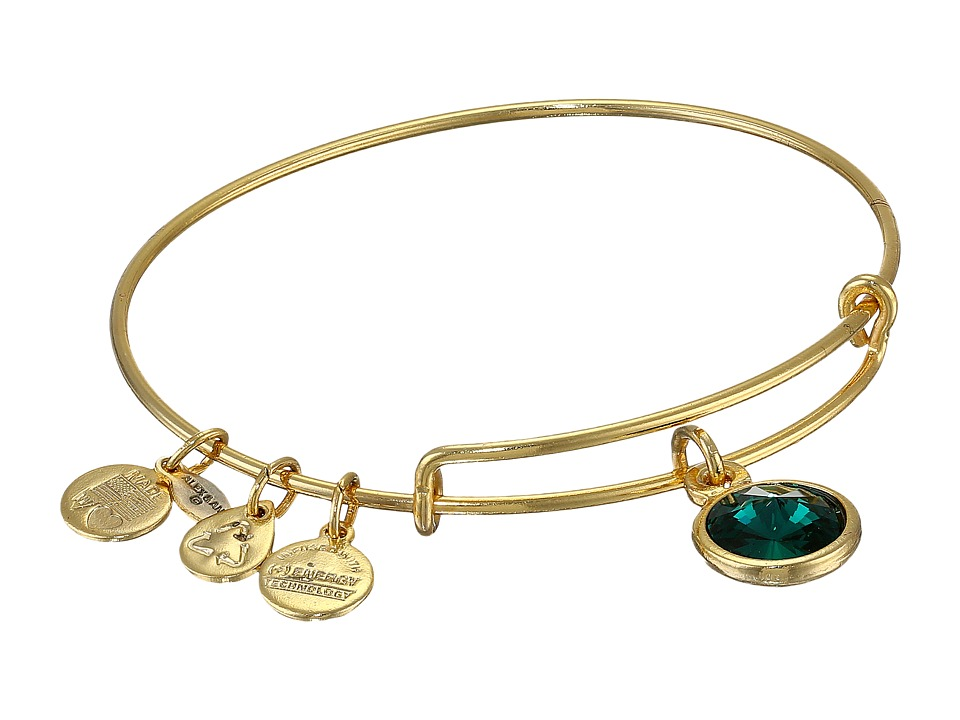 Alex and Ani - May Birthstone Charm Bangle (Rafaelian Gold Finish) Bracelet