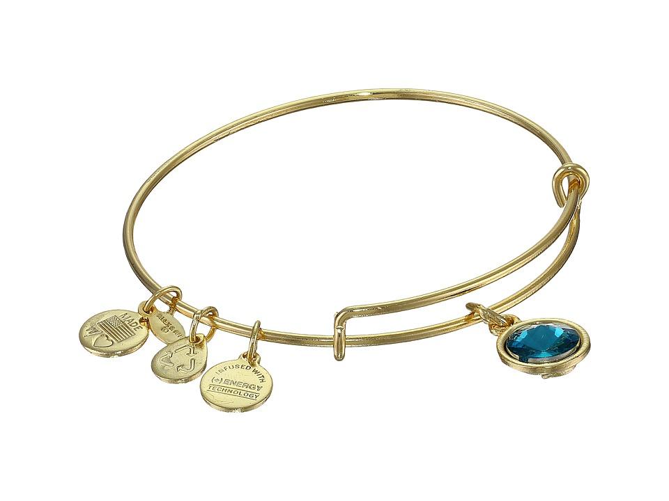 Alex and Ani - December Birthstone Charm Bangle (Rafaelian Gold Finish) Bracelet