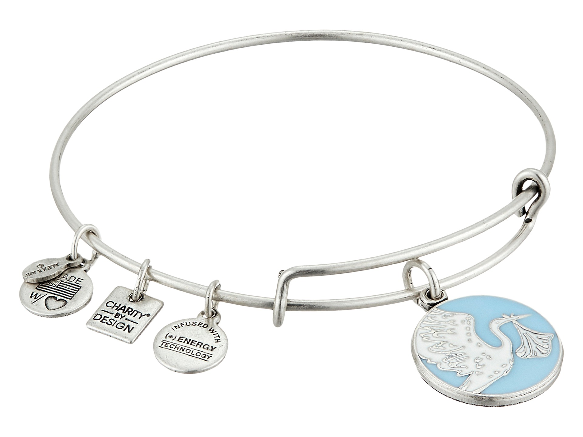 Alex and Ani Charity By Design Arrows of Friendship Expandable Bangle Bracelet.