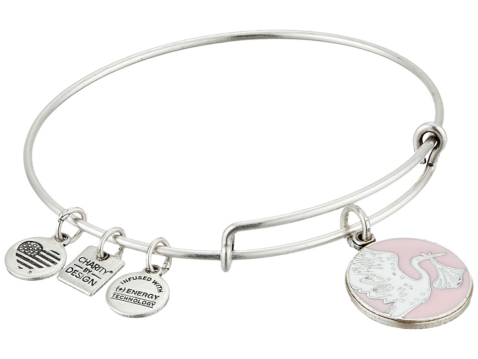 Alex and Ani - Pink Special Delivery Charm Bangle