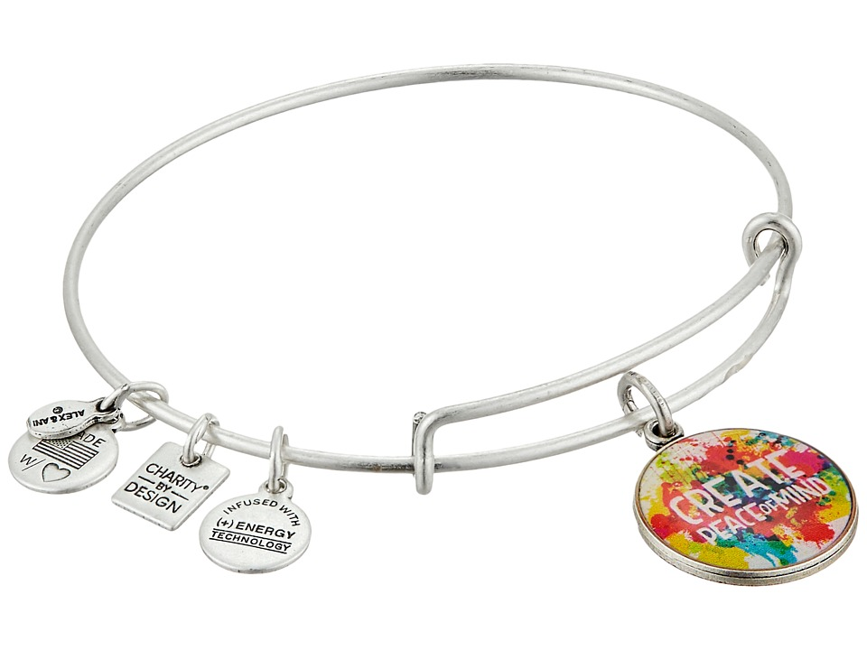 Alex and Ani - Peace Of Mind Charm Bangle (Rafaelian Silver Finish) Bracelet
