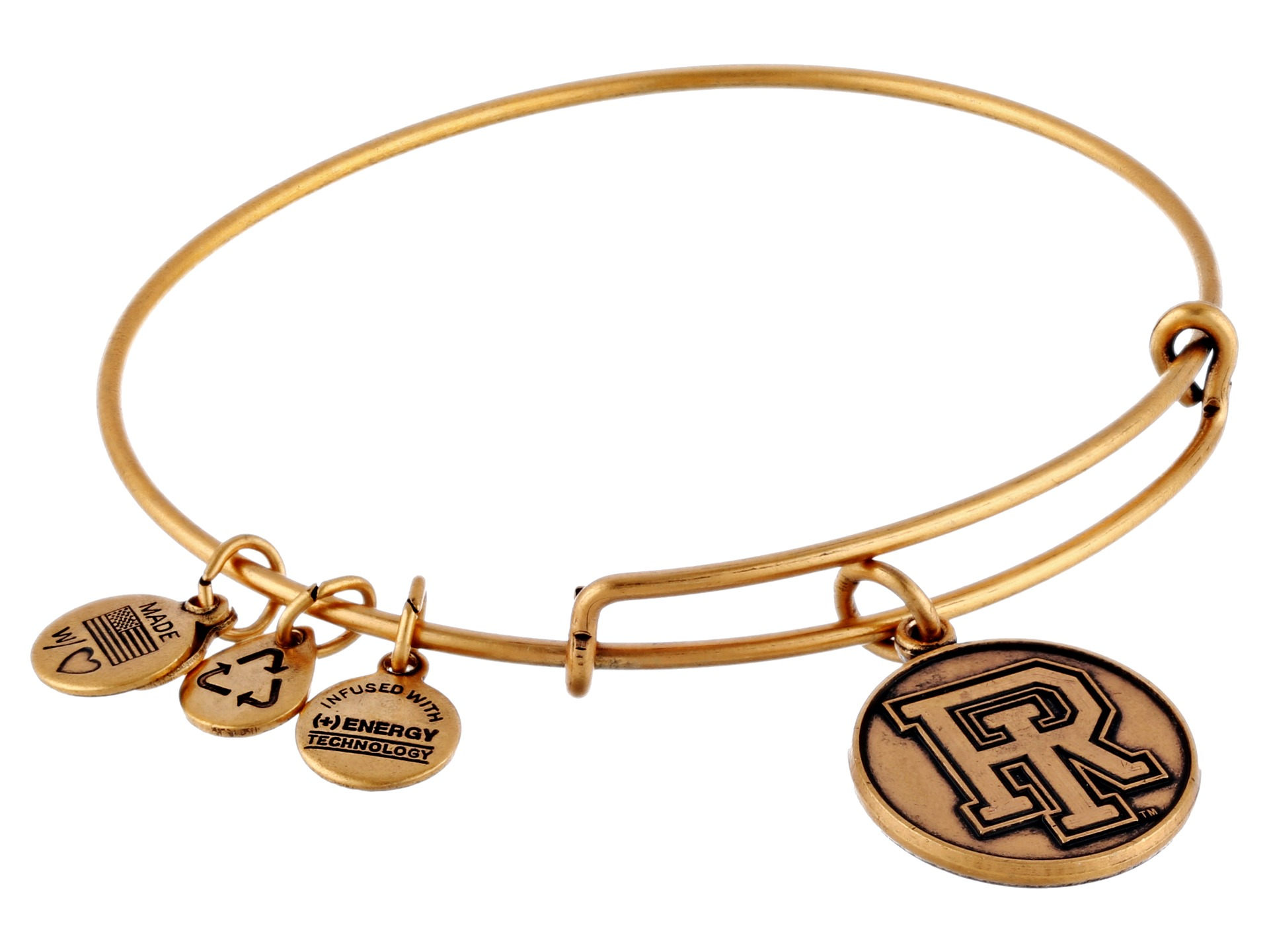 alex and ani university of rhode island logo charm bangle