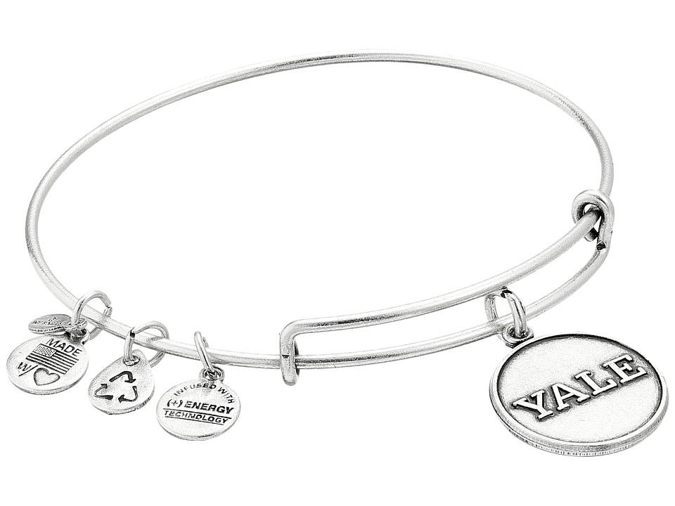 Alex and Ani Yale University Logo Charm Bangle Rafaelian Silver Finish Bracelet