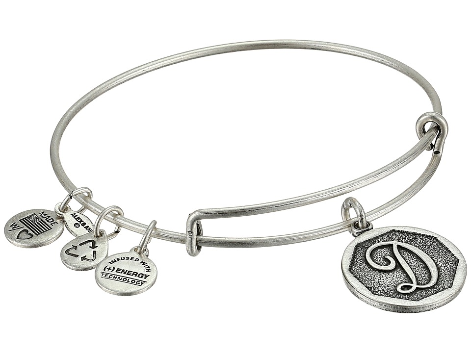 Alex and Ani - Initial D Charm Bangle (Rafaelian Silver Finish) Bracelet