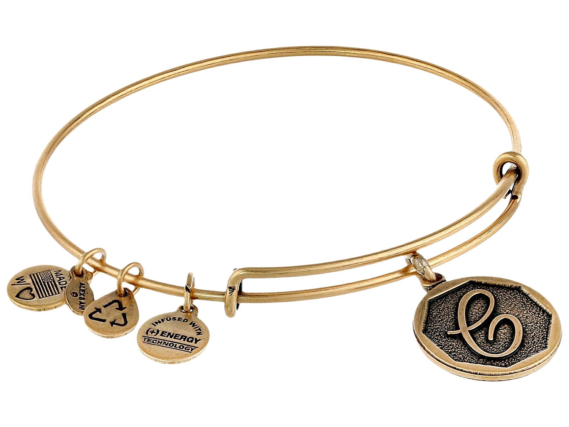 Alex and Ani Initial C Charm Bangle at Zappos