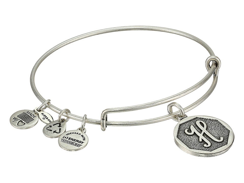Alex and Ani - Initial H Charm Bangle (Rafaelian Silver Finish) Bracelet