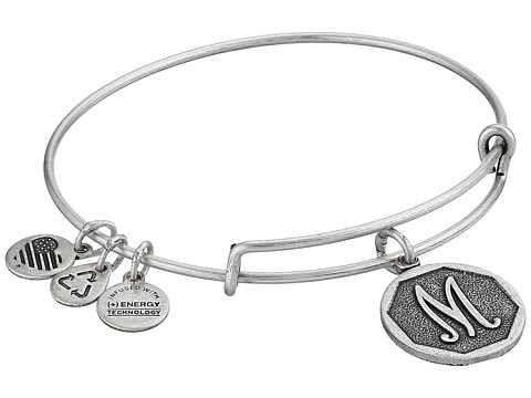 Alex and Ani Initial M Charm Bangle