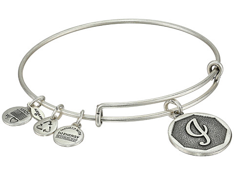 Alex and Ani Initial I Charm Bangle - Rafaelian Silver Finish