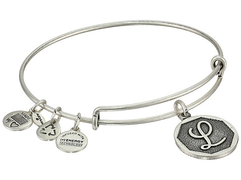 Alex And Ani Initial L Charm Bangle Rafaelian Silver Finish Betsey Johnson Colorful Erfly Linear Earrings Multicolor