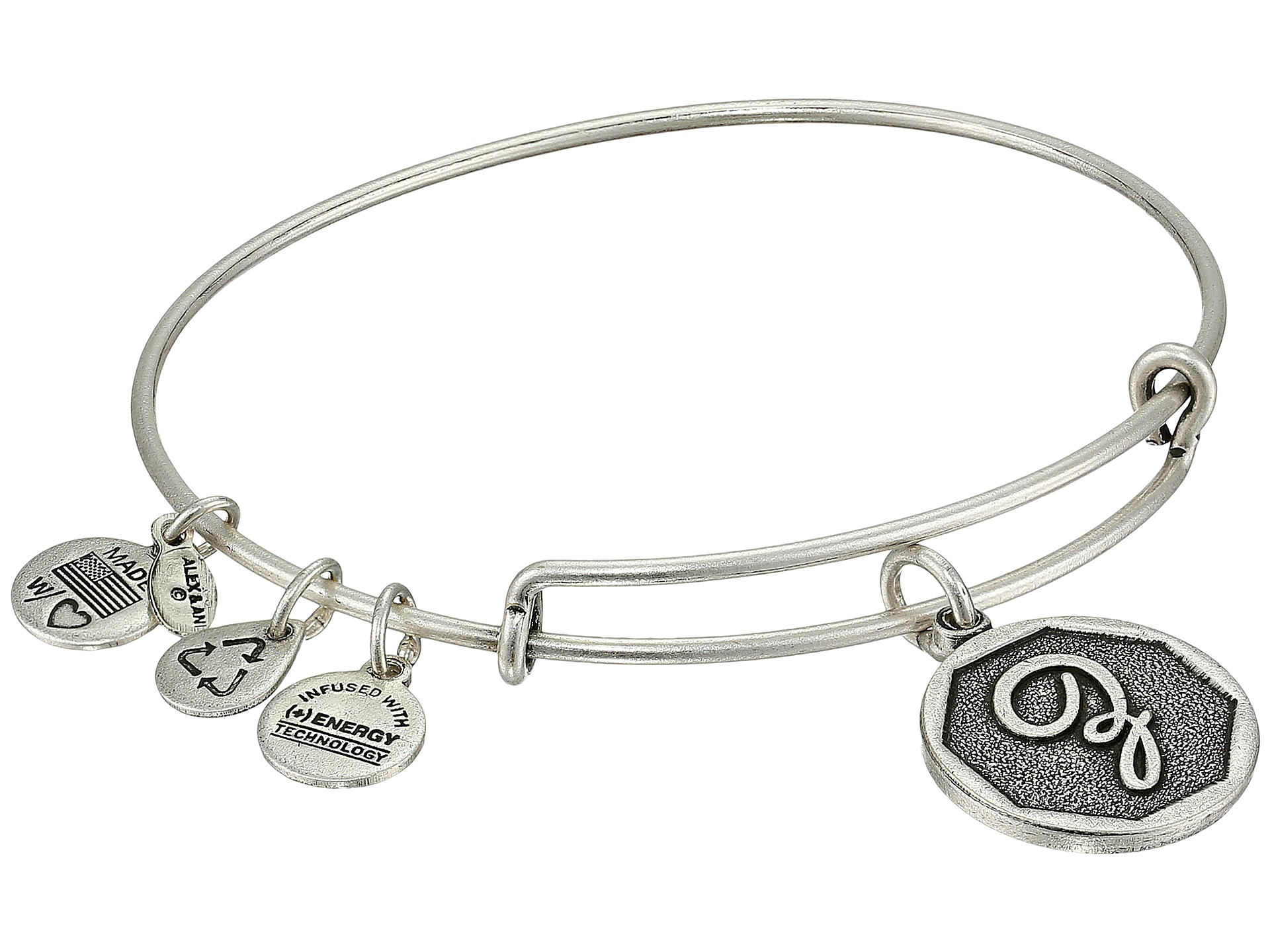 alex and ani initial z charm bangle at zappos