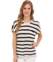 TWO by Vince Camuto - S/S Stripe Sweater w/ Lace Back