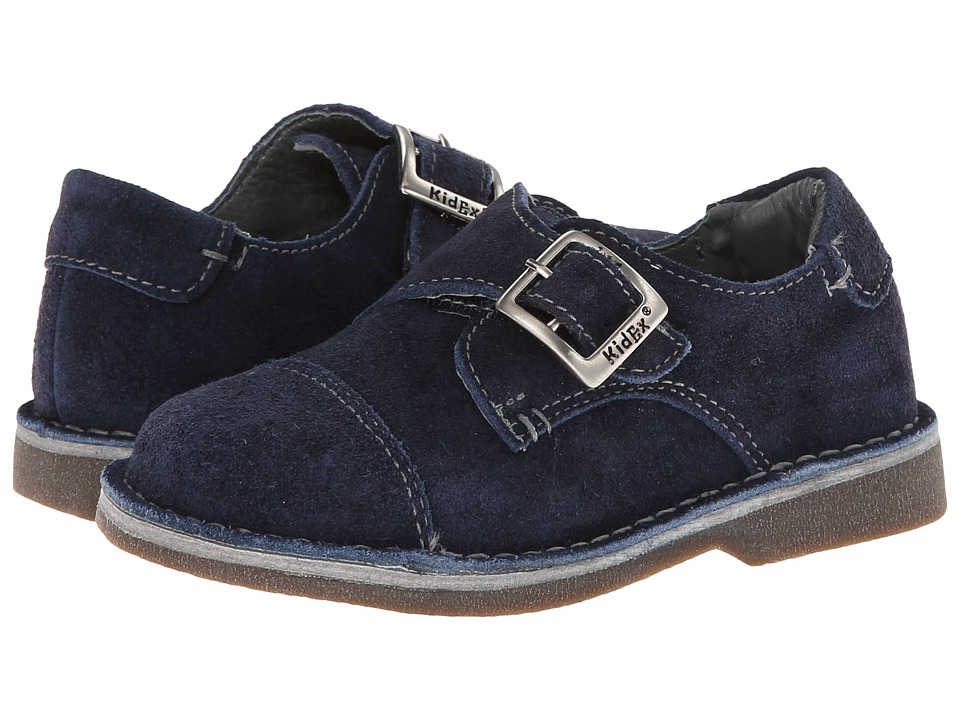 Kid Express Marc Toddler/Little Kid/Big Kid Navy Suede Boys Shoes