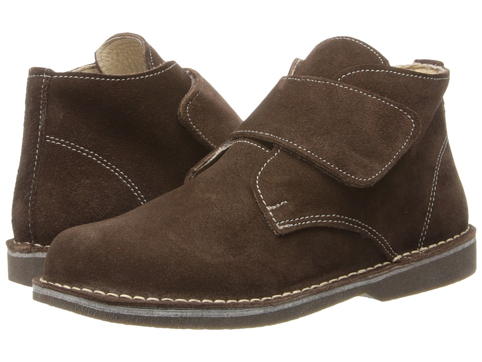 Kid Express - Maddox (Toddler/Little Kid/Big Kid) (Dark Brown Suede) Boys Shoes