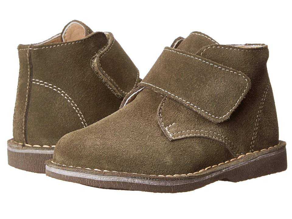 Kid Express Maddox Toddler/Little Kid/Big Kid Olive Green Suede Boys Shoes