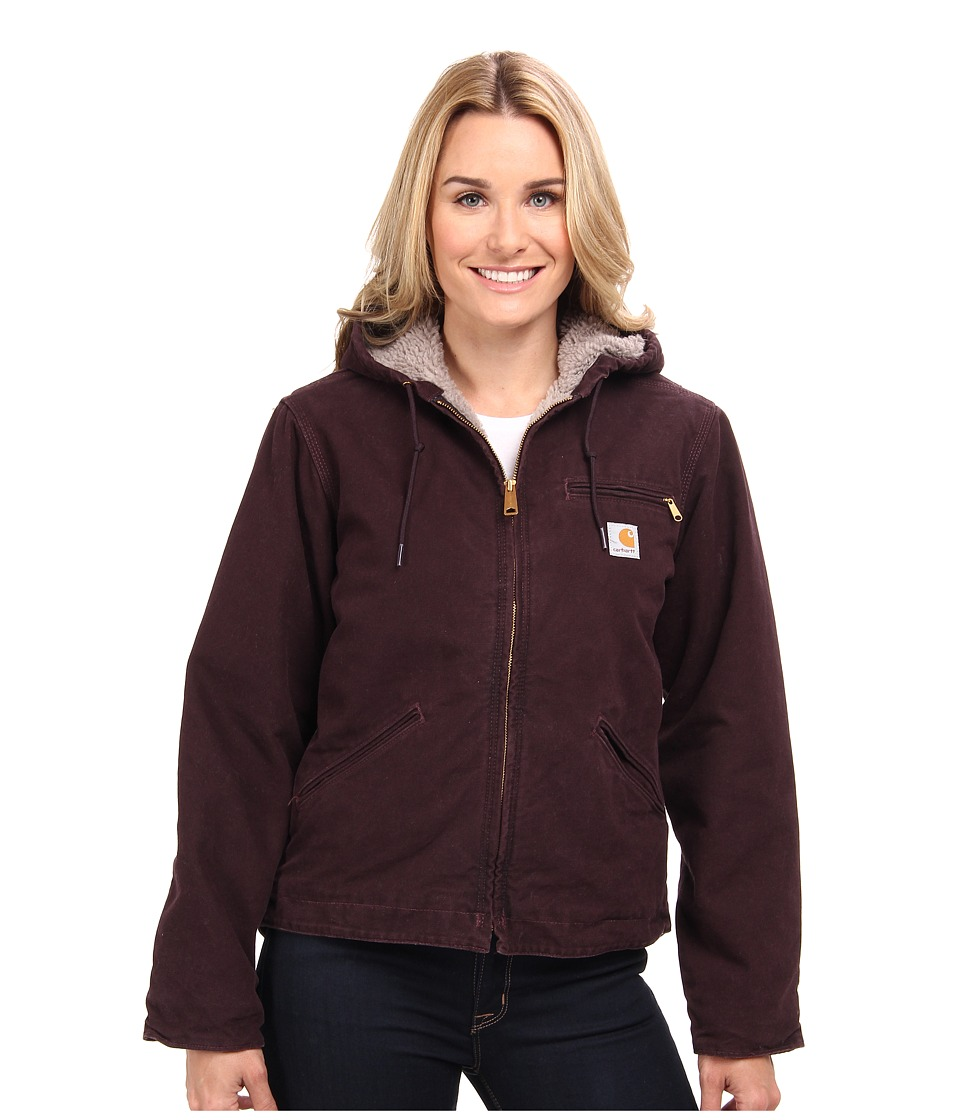 Carhartt Sandstone Sierra Jacket (Deep Wine) Women's Jacket