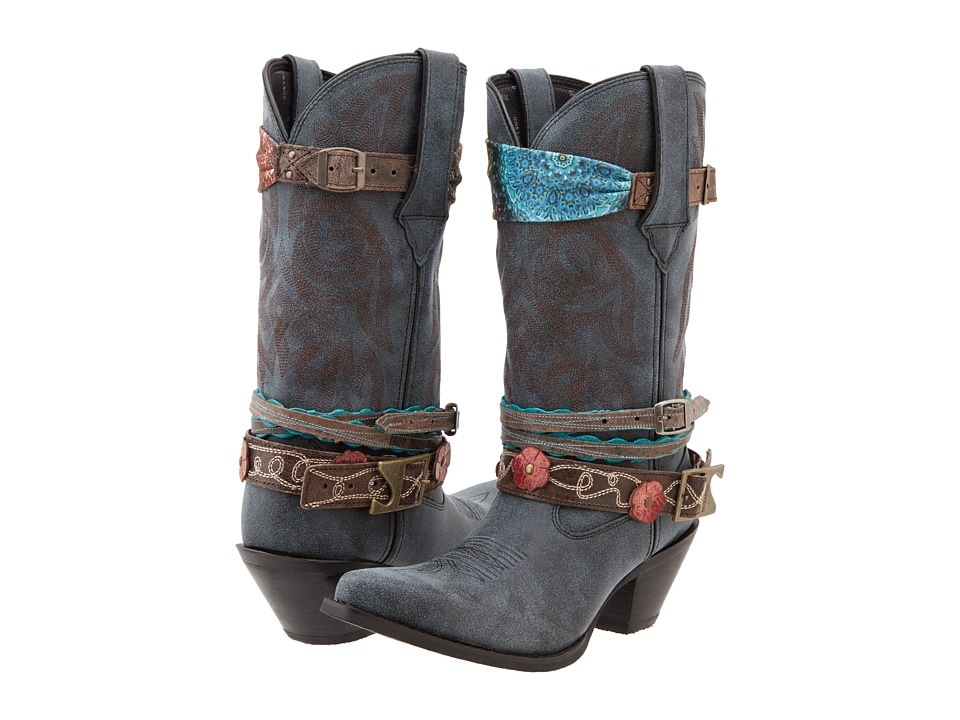 Durango Crush 12 Accessorize w/ Removable Straps Black Cowboy Boots