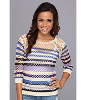 Lucky Brand - Mesh Striped Sweater