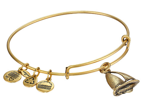 Alex and Ani Sailboat Charm Bangle - Rafaelian Gold Finish