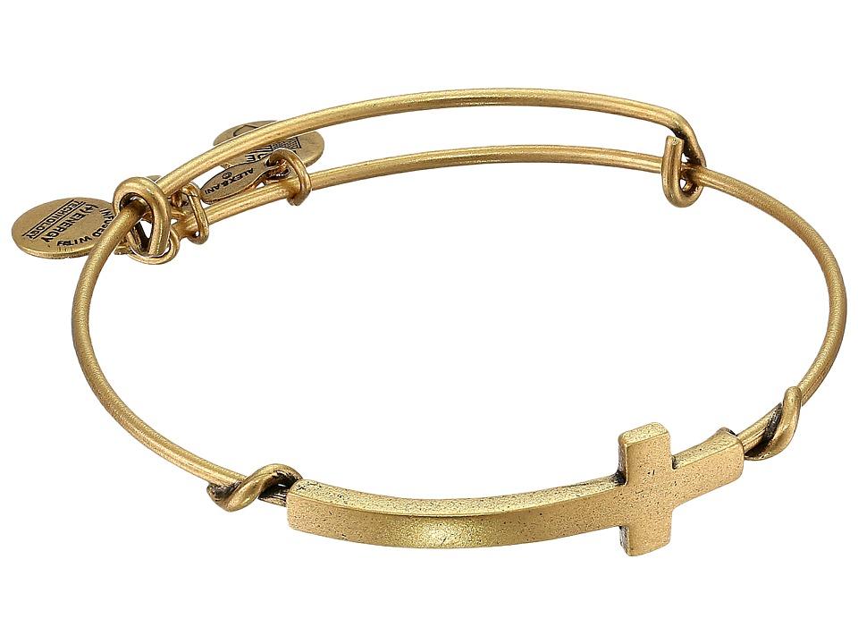 Alex and Ani - Cross Wrap (Rafaelian Gold Finish) Bracelet