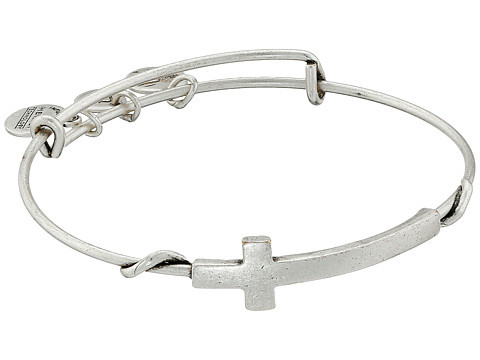 Alex and Ani Cross Wrap - Rafaelian Silver Finish