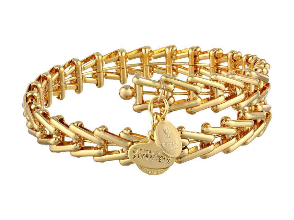 Alex and Ani Gypsy 66 Wrap Bracelet Yellow Gold Bracelet