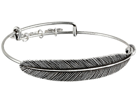 Alex and Ani Quill Feather Bangle - Rafaelian Silver Finish