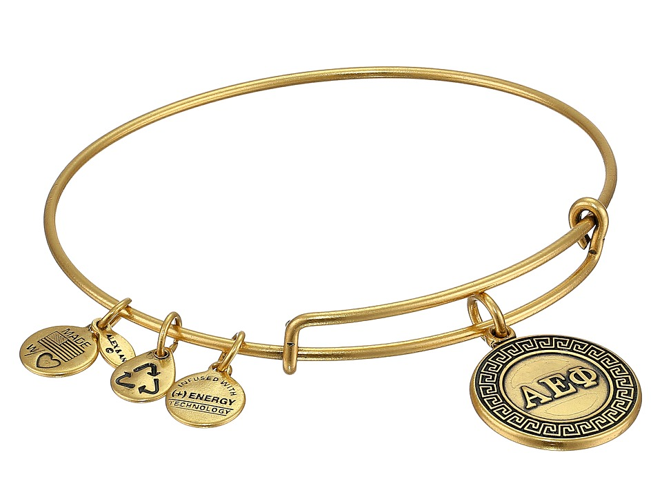 Alex and Ani Alpha Epsilon Phi Charm Bangle Rafaelian Gold Finish Bracelet