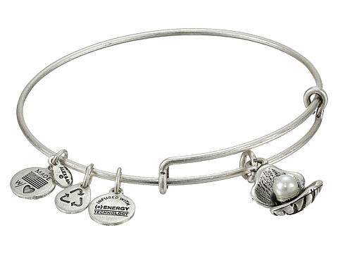 Alex and Ani Oyster Charm Bangle - Rafaelian Silver Finish